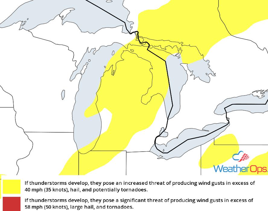 Thunderstorm Risk for Thursday, August 2, 2018