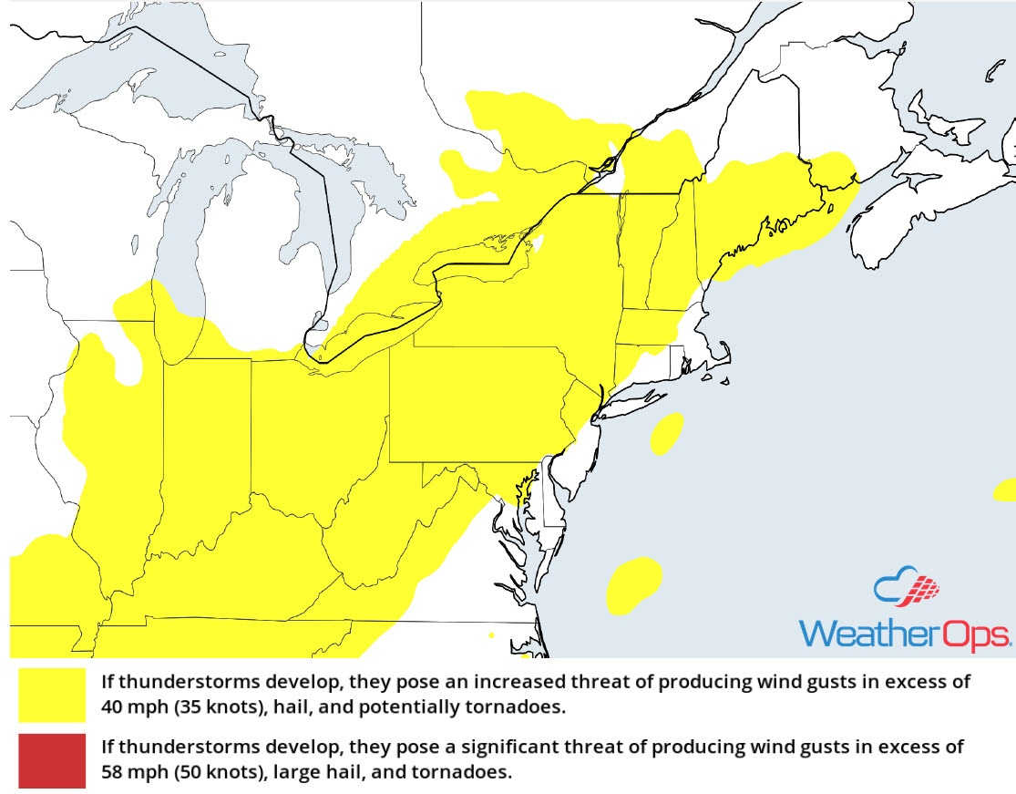 Thunderstorm Risk for Friday, August 17, 2018