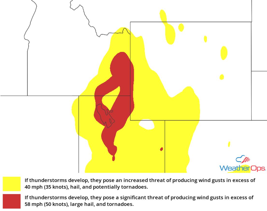 Thunderstorm Risk for Wednesday, August 22, 2018