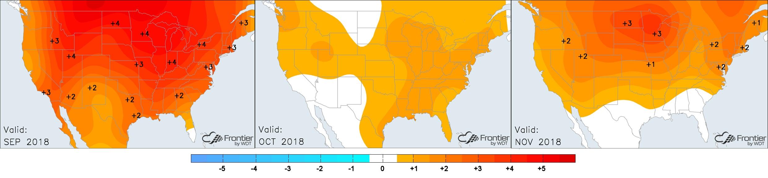 Sept-Nov Temperature Anomalies