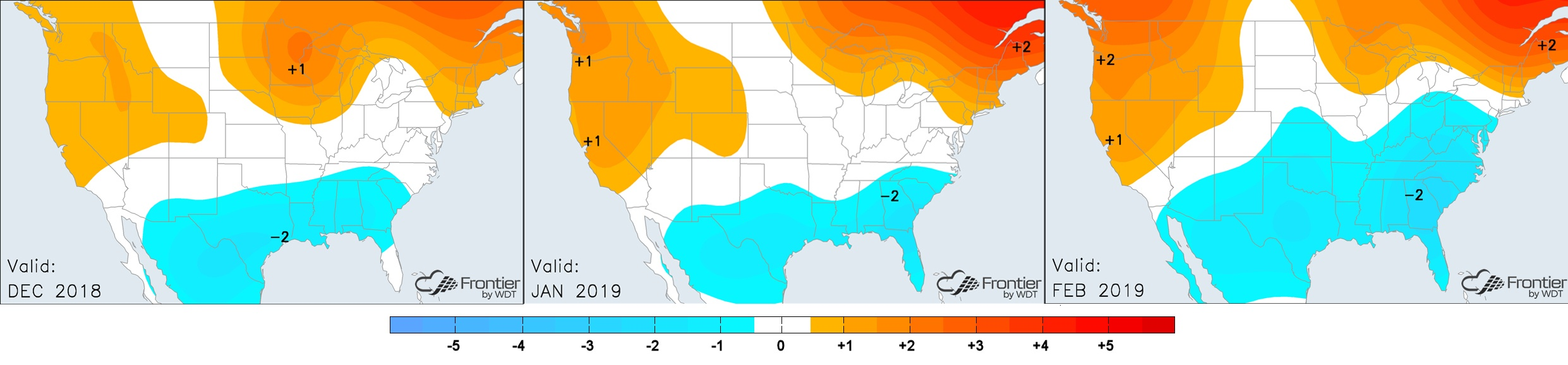 Dec-Feb Temperature Anomalies