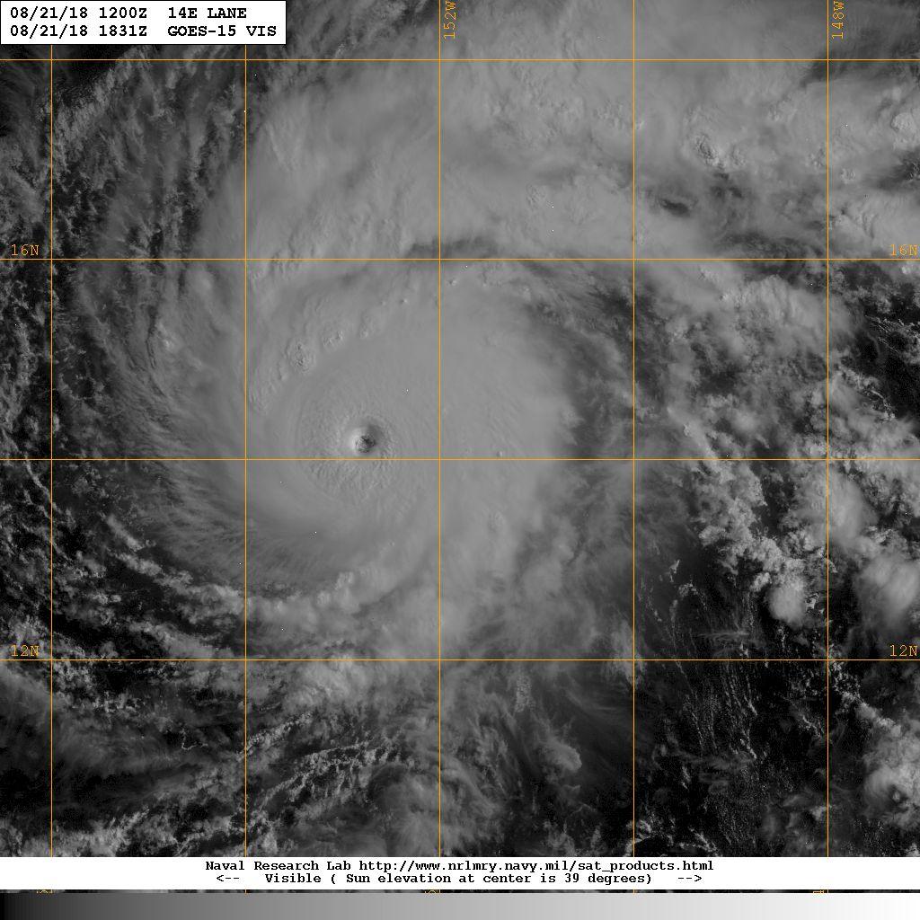 Hurricane Lane Forecast to Impact Hawaiian Islands