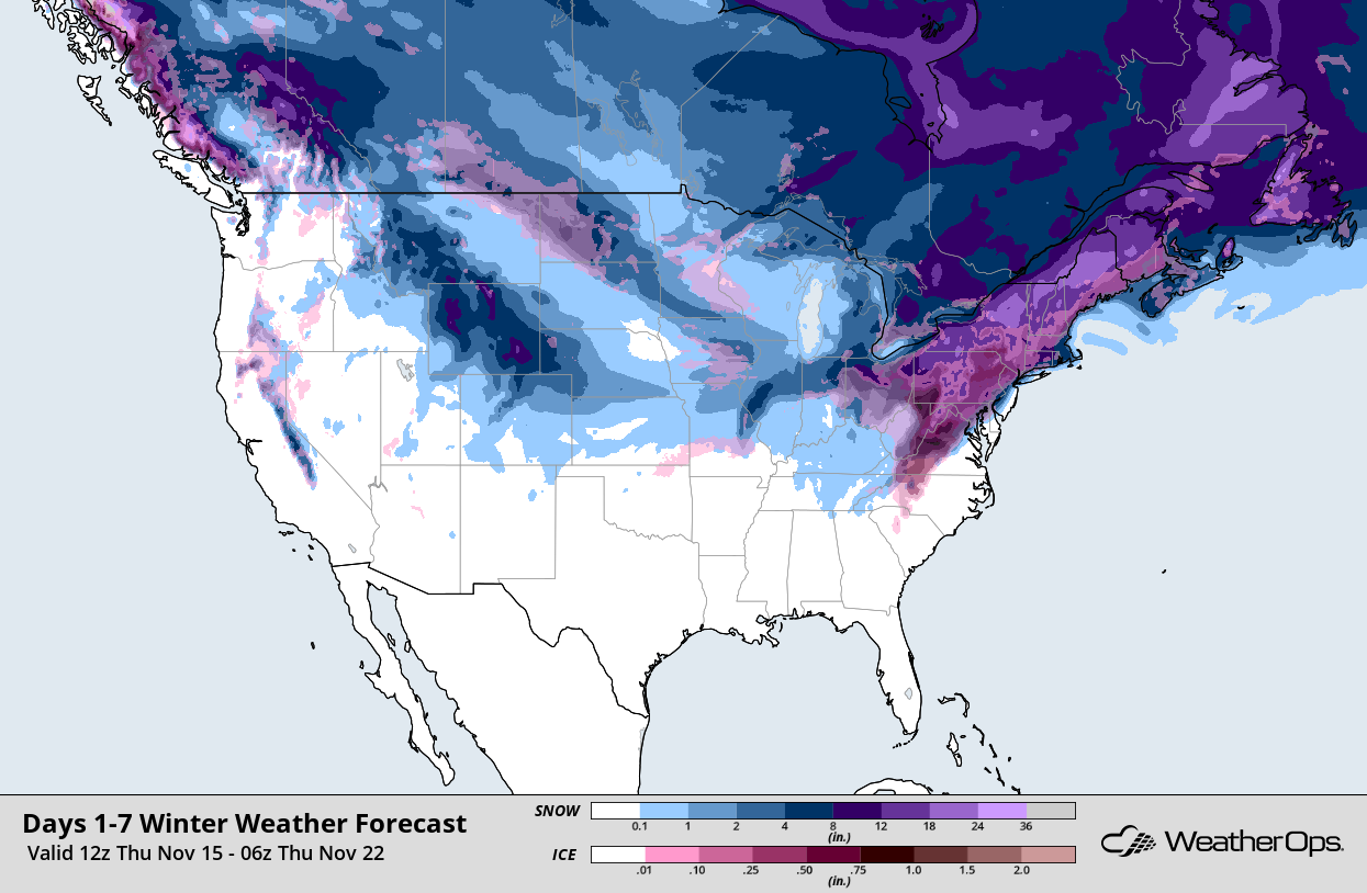 Eastern US Dealing with Freezing Precipitation