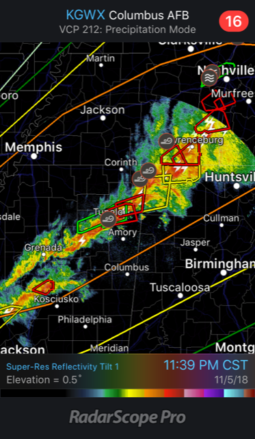 Nocturnal Tornadoes Cause Damage in the South