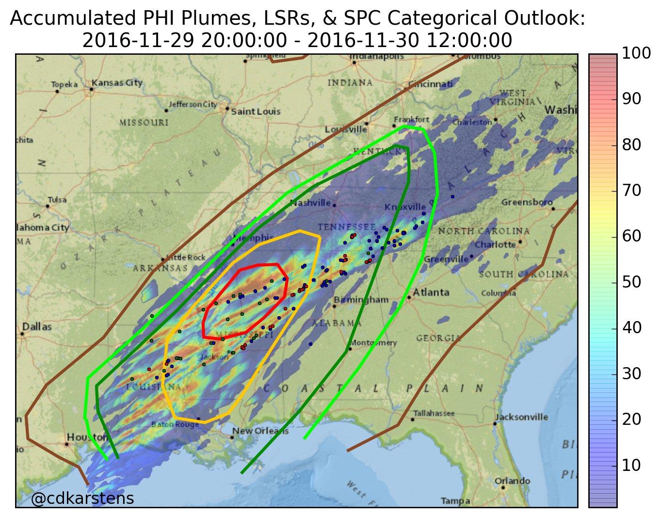 Tornadoes Strike the Southeast