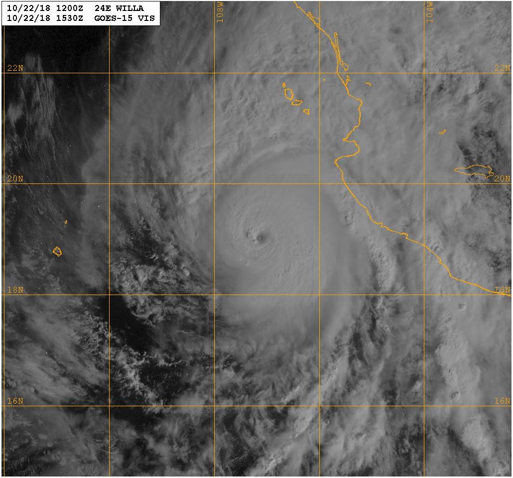 Major Hurricane Willa to Eventually Affect South Texas