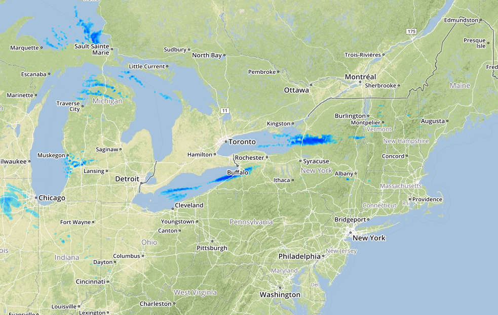 Great Lakes Experiencing Lake Effect Snow