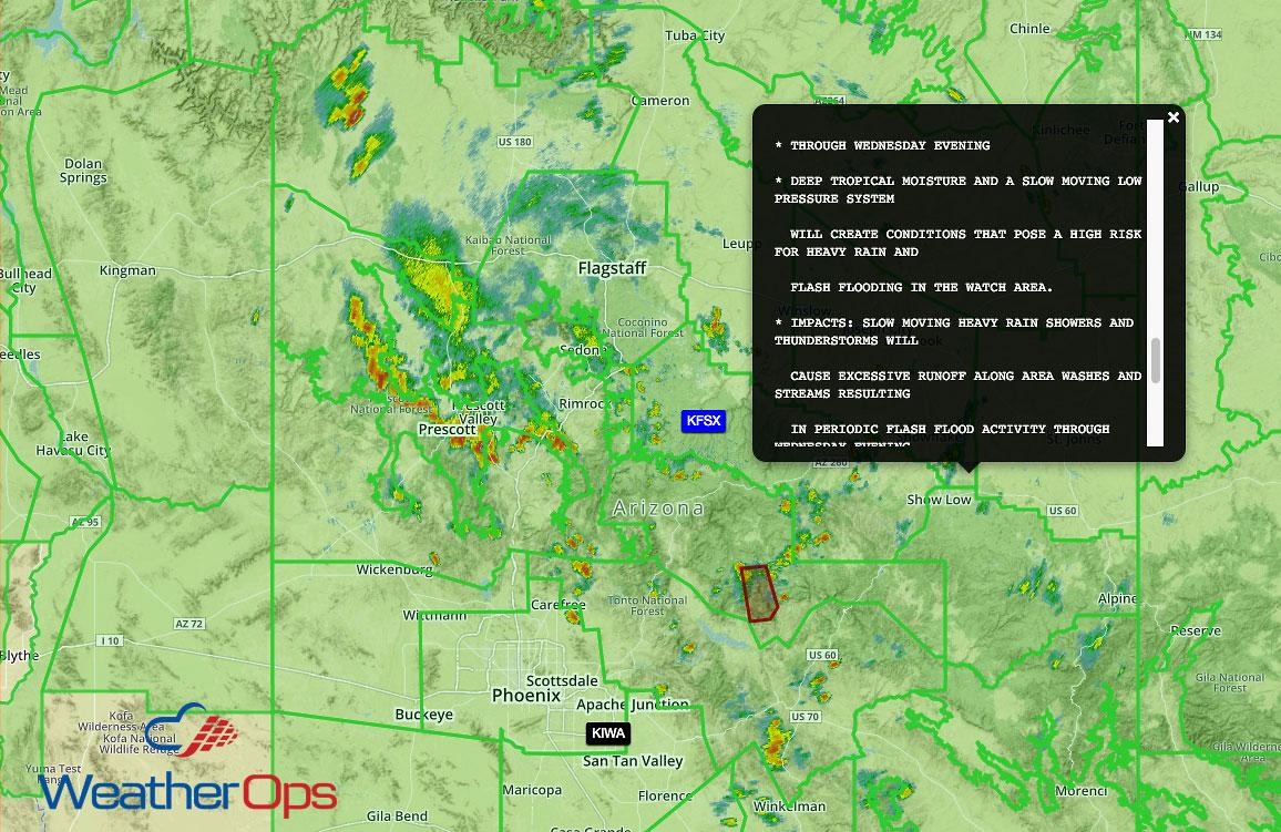 Monsoon Season Causes Major Flooding in Arizona