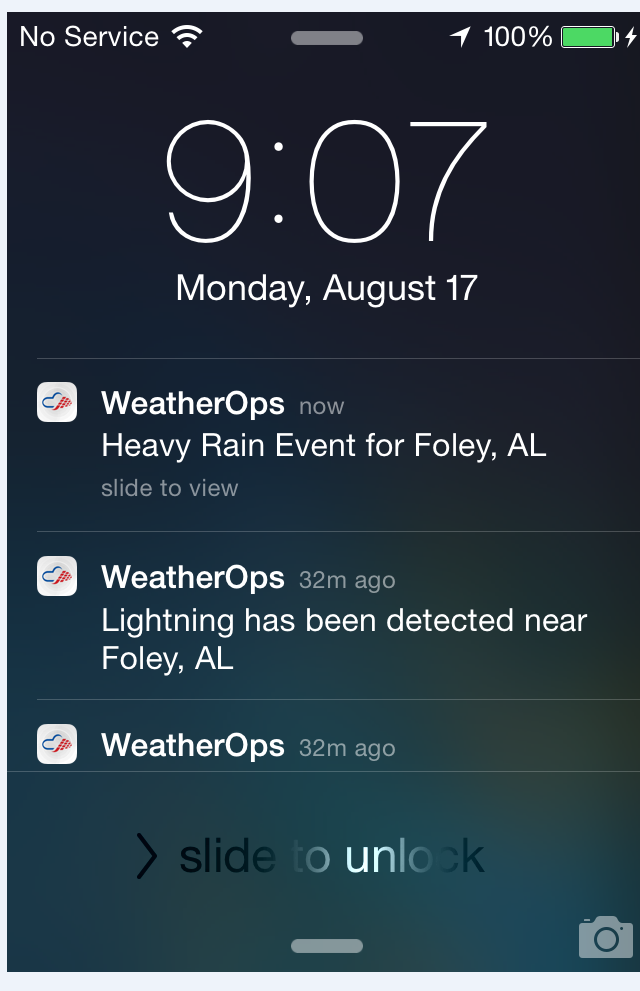 WDT Mobile Alerts Example