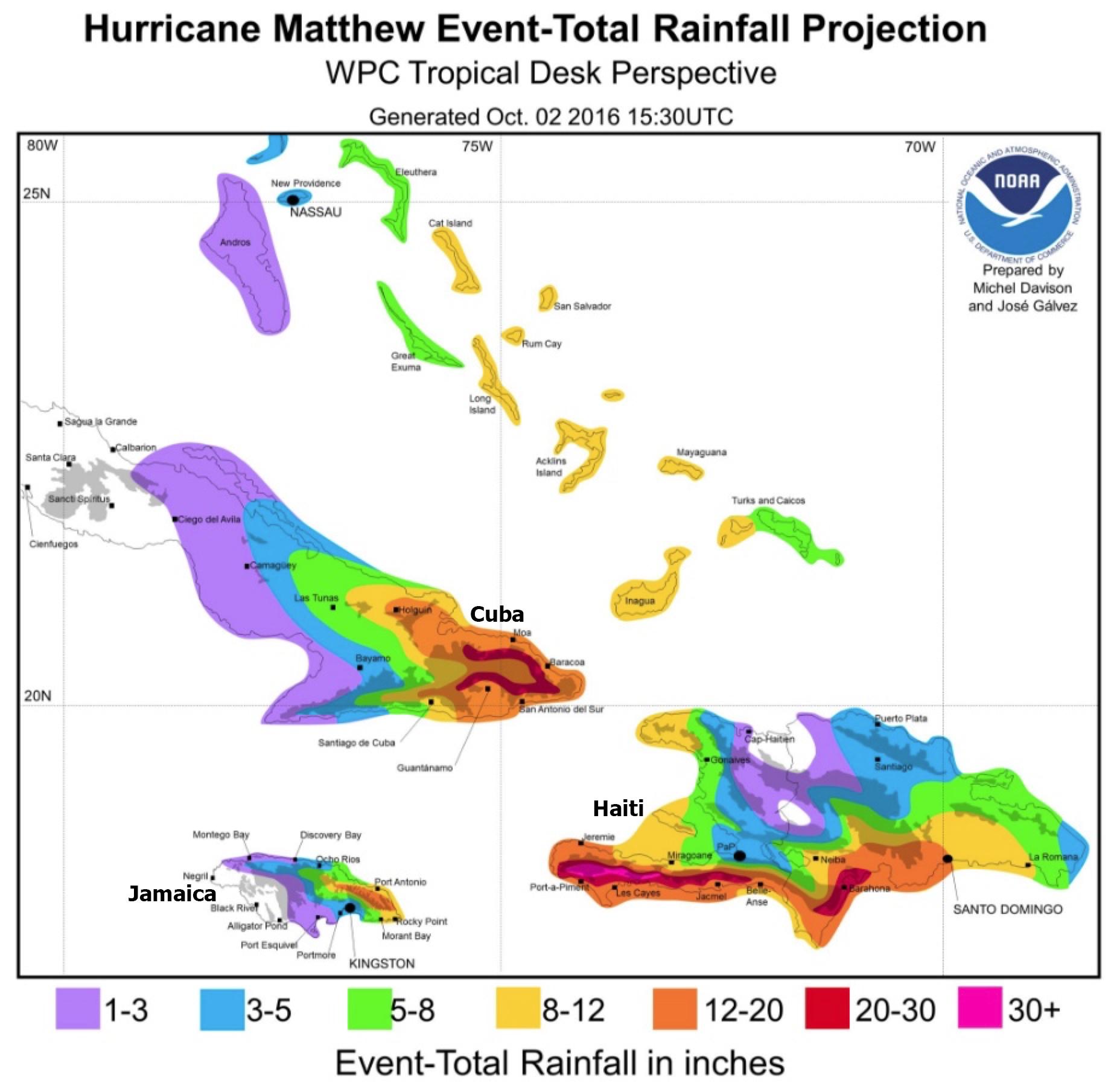 Haiti in Extreme Danger from Hurricane Matthew
