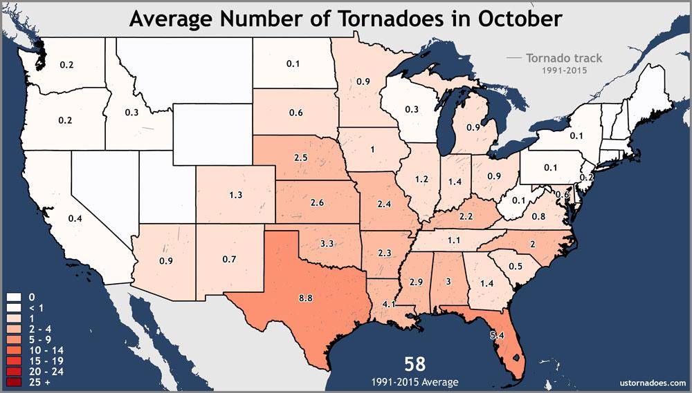 October Tornadoes Aren't Unusual