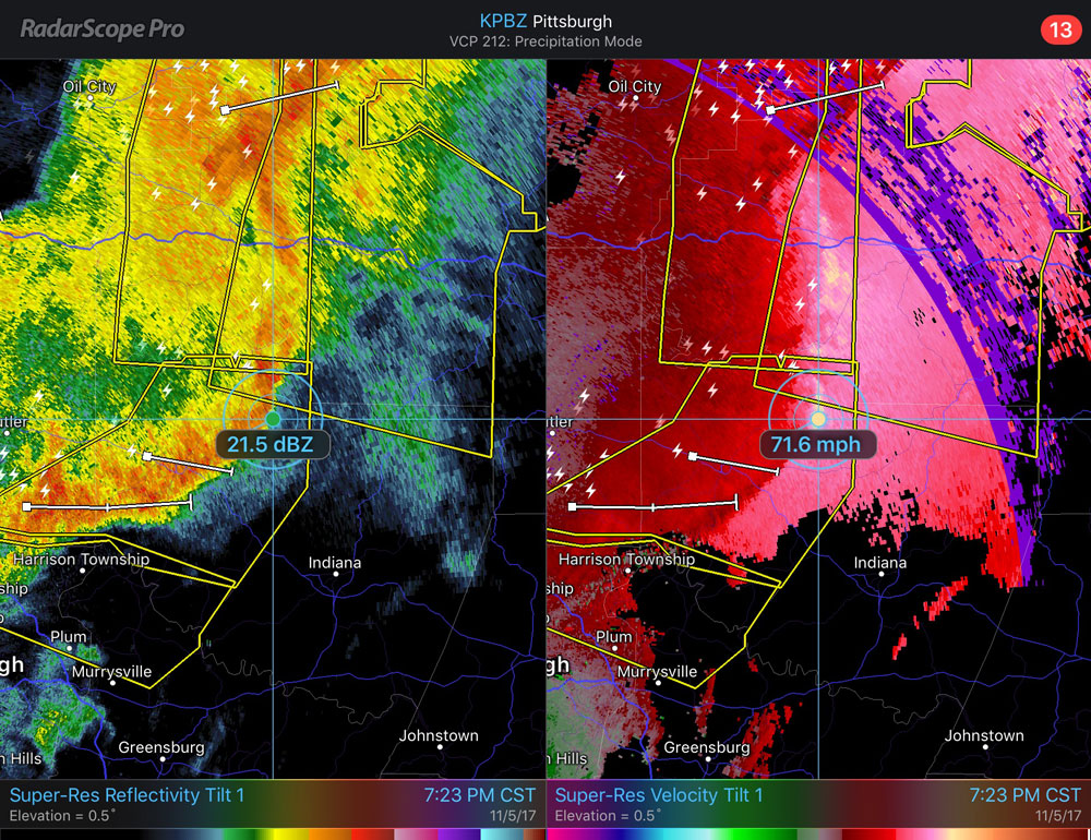 RadarScope: What Does a Bow Echo Look Like?