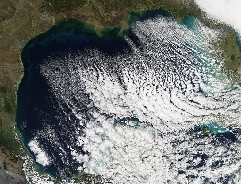 Wind Shifts in the Gulf of Mexico