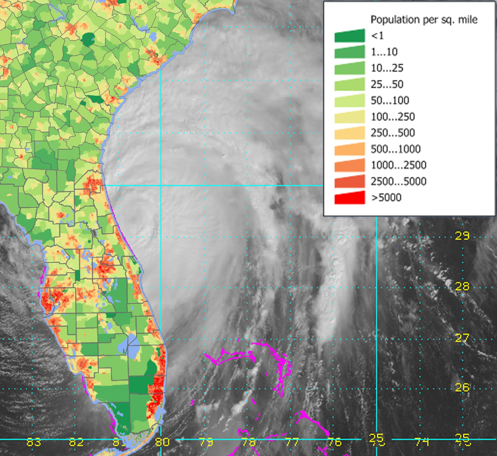 Hurricane Matthew is Grinding Along the Coast