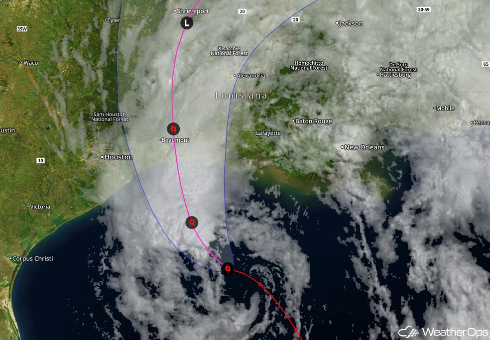 Tropical Storm Cindy Approaching Louisiana/Texas