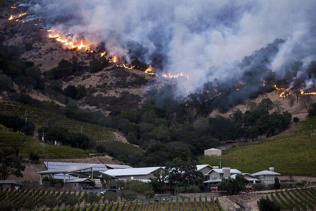 Wildfires Rage in California Wine Country