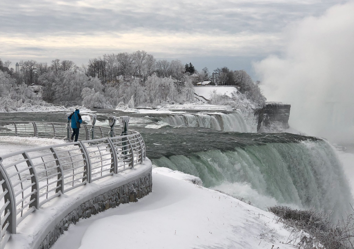 Even Niagara Falls Doesn't Like the Cold