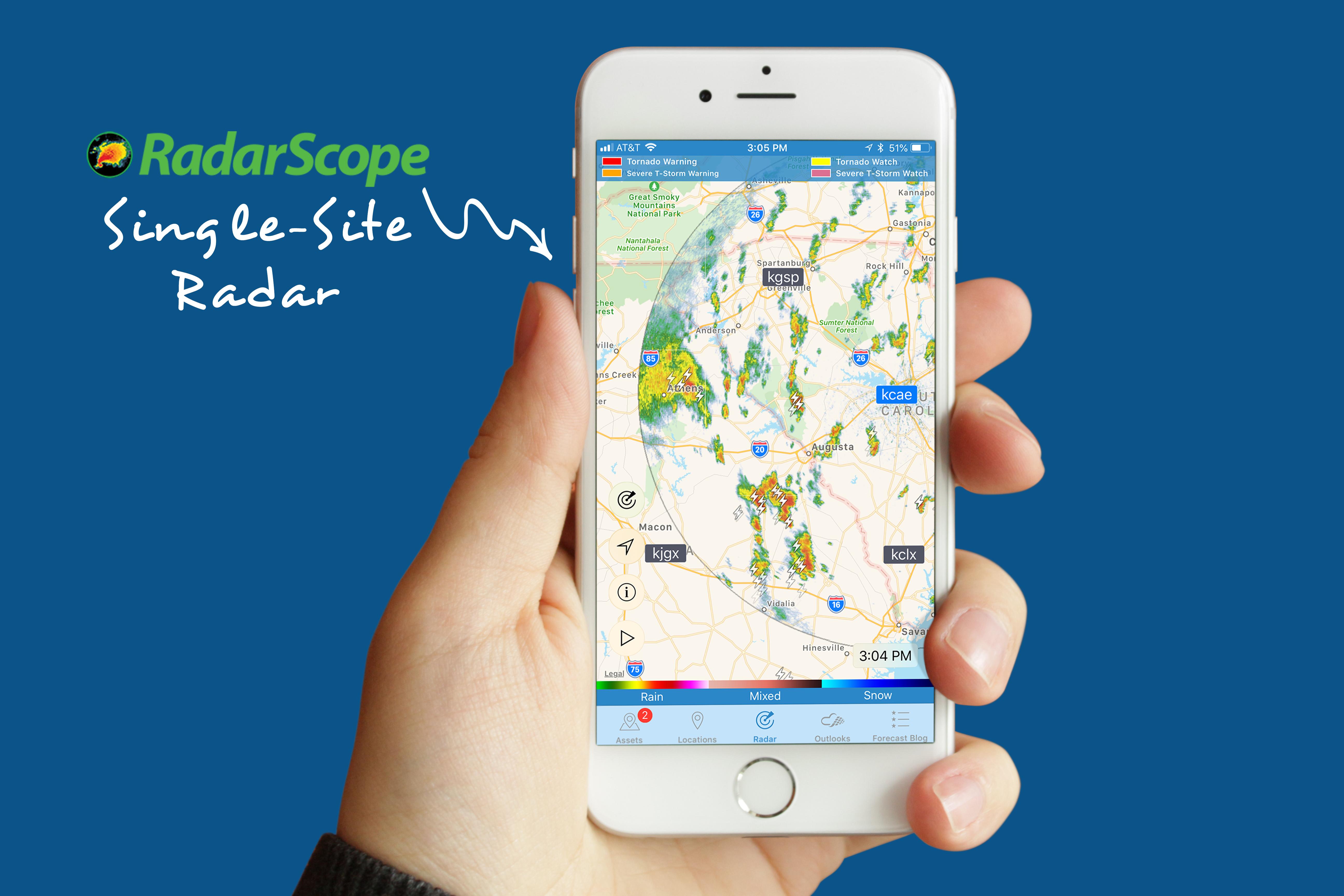 WeatherOps Mobile App to Have RadarScope Single-Site Radar
